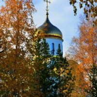 the golden dome of yellow leaves, Озерск