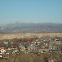 Вид на Магнитогорск из Агаповки - Все в дыму!!!, Агаповка