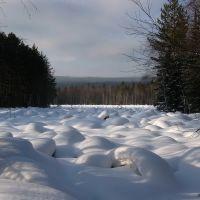 Каменные реки зимой, курумник /Stone river in winter, Бреды