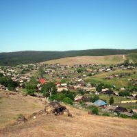 Вид с горы на ул. Ельцова, Верхний Уфалей