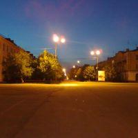Вечерний вид с площади, Еманжелинск