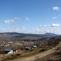 Вид с горы Уреньга на Таганай, Златоуст