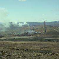Вид на Карабашский металлургический комбинат с Золотой Горы / The industrial complex Karabashskiy, Карабаш