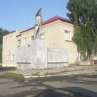 Statue of Lenin in the centre of Kunashak village, Кунашак