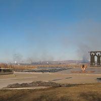 Мемориал на фоне ММК, Магнитогорск