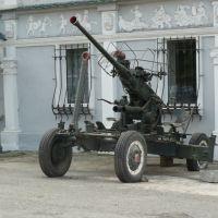 Пушка возле дворца, Сатка