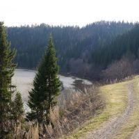 Дорога вдоль симского пруда, Сим