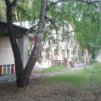 Слева корпус малышей, в центре корпус средних, Увельский