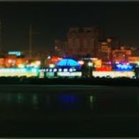 Ноябрьский вечер на набережной (панорама), Челябинск