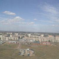 Вид с самолета, Южно-Уральск