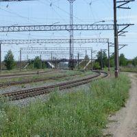вид на мост со станции, Южно-Уральск
