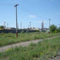 вид на АИЗ со станции, Южно-Уральск