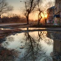 Закат в городе. Южноуральск, Южно-Уральск