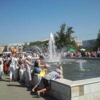 Дунь города 2011 г. у фонтана, Южно-Уральск