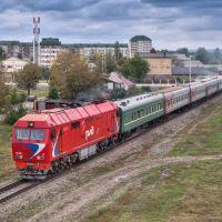 Пассажирский поезд на перегоне Грозный - Ханкала, 05/10/2013, Грозный