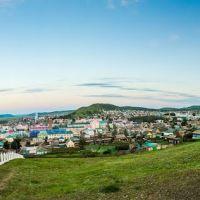 """Забайкальский край.Панорама """"Вид на Агинское"""", Агинское"""