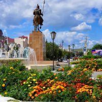 Центральный фонтан в пгт. Агинское (The main fountain in the settlement Aginsky), Агинское