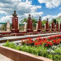 Забайкальский край.пгт. Агинское.Аллея Героев, Агинское
