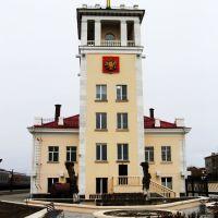 Забайкальск, здание вокзала, 17.04.2014, Забайкальск
