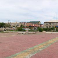 Центральная площадь и здание администрации, Забайкальск, июнь 2011, Забайкальск