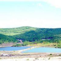 Вид на озеро и хвостохранилище., Ключевский