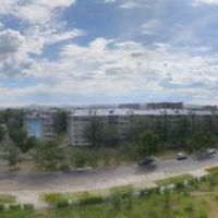 Центр города, круговая панорама., Краснокаменск
