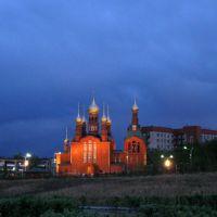 церковь вечер, Краснокаменск