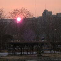 Закат между домами, Краснокаменск