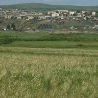 Вид на городок с трассы, Нижний Часучей