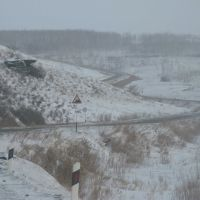 """Берёзовый """"хребет"""" -подъём с северной стороны. 15.II.2009, Нижний Часучей"""