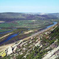 Вид на долину реки Онон с горы Бугдуя. На дальнем плане Оловянная., Нижний Часучей