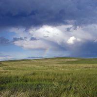 Радуга в степи (Забайкалье, Агинский Бурятский Автономный Округ, 2006); Rainbow in steppe (Transbaikalia, Agin-Buryat Autonomous Okrug, 2006), Нижний Часучей
