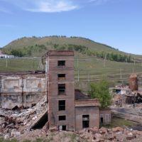 Вид со стороны завода на пожарную часть. 2010., Петровск-Забайкальский