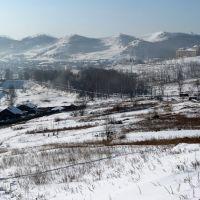 Вдали Дворец Металлургов, Петровск-Забайкальский