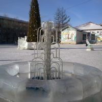 зимний фонтан  winter fountain, Хилок