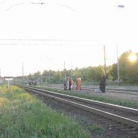ЖД станция Вурнары_лето_закат, Вурнары