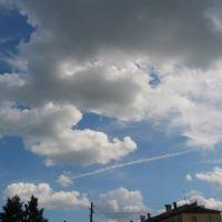 Небо над проспектом (в кадре 13 дом по пр. Ленина), Канаш