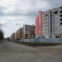 Начало улицы Винокурова (Вид на юг)  /  The beginning of Vinokurov street (View on south), Новочебоксарск