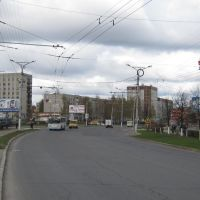 Изгиб улицы Винокурова  /  Bending Vinokurov Street, Новочебоксарск