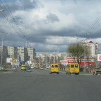 Перекрёсток улиц Винокурова и Пионерской (Вид на запад)  /  Crossroads of streets Vinokurov and Pioneerskaya (View on west), Новочебоксарск