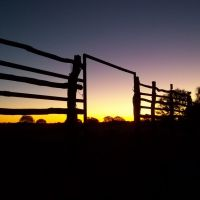 Silent Stockyard Sunset at Lorna Glen WA, Бунбури