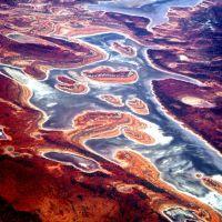 Lake Carnegie, Western Australia From 10,000 Meters, Гералдтон