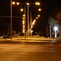 Boulder - Night View Along Federal Road, Калгурли