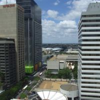0573 Brisbane, view from City Hall Tower to southern city, Брисбен