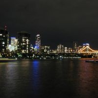 Story Bridge at night, New Farm, Brisbane, Брисбен