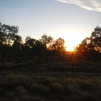 Sunrise on the Landsborough Highway, Бундаберг