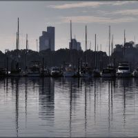 Morning marina masts, Гладстон