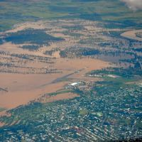 Rockhampton floods 2011 from the air, Рокхамптон