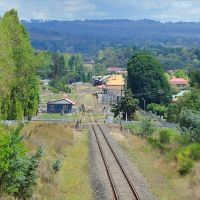 a view nth west at Armidale Rly. Stn., NSWm 21 Feb 2014., Армидейл