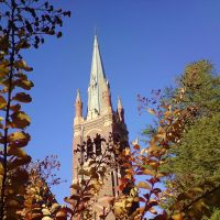 Armidale , spire of catholic church ..., Армидейл
